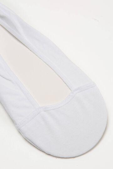 Calze salvapiede cotone stretch, Bianco, hi-res