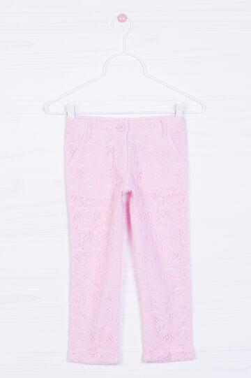 Pantaloni in pizzo di puro cotone