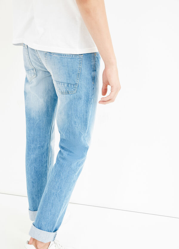 Creased-effect straight fit jeans | OVS