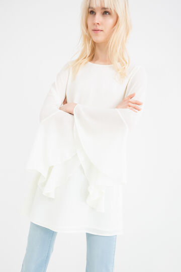 Blouse with flared sleeves, Cream White, hi-res