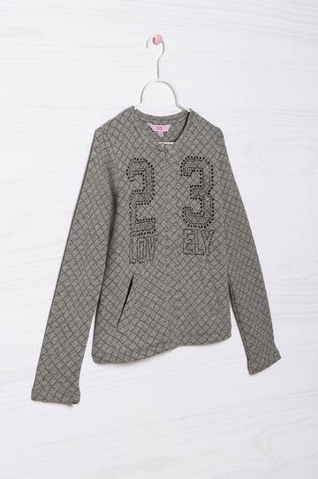 Viscose blend diamanté sweatshirt