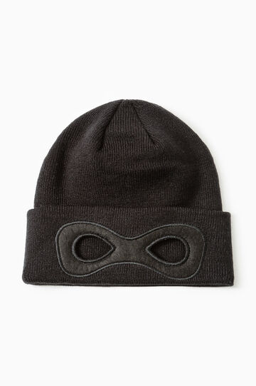 Cappello a cuffia con patch, Nero, hi-res