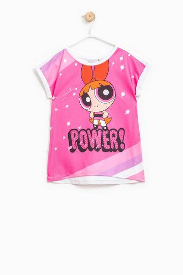 T-shirt maxi stampa The Powerpuff Girls, Bianco, hi-res