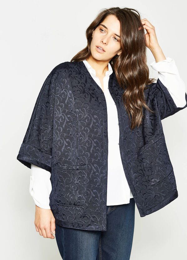 Curvy damask patterned coat | OVS