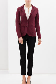 Raw hem jacket, Claret Red, hi-res