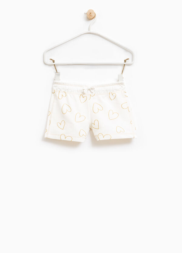 100% cotton shorts with heart print | OVS