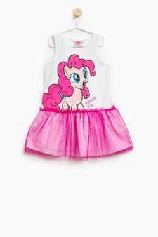 Pinkie Pie printed stretch dress, White/Yellow, hi-res