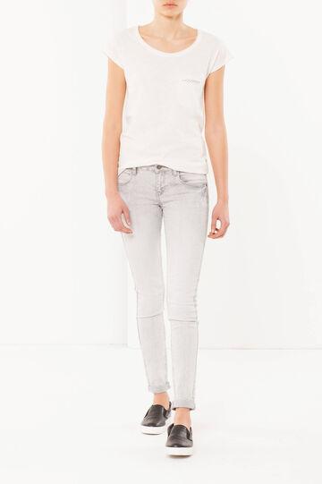 T-shirt in cotone, Bianco panna, hi-res