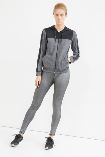 OVS Active Sport Training sweatshirt, Black/Grey, hi-res
