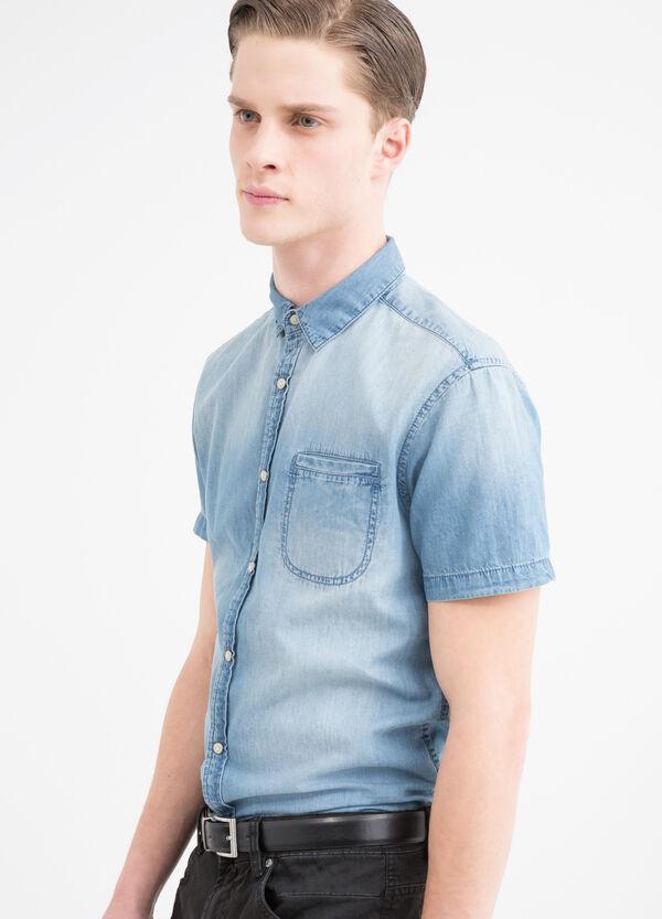 Camicia di jeans effetto used   OVS