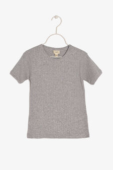 T-shirt in cotton, Grey Marl, hi-res