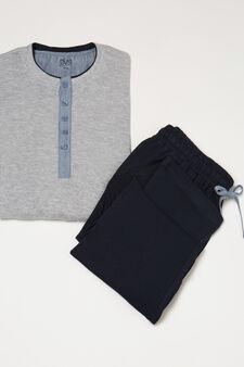 Pyjamas in 100% cotton, Grey Marl, hi-res