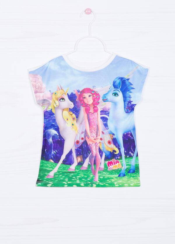 T-shirt stretch stampata con strass   OVS