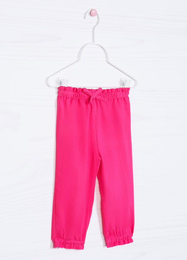 Pantaloni pura viscosa tinta unita   OVS