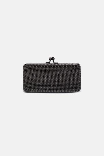 Braided clutch bag, Black, hi-res