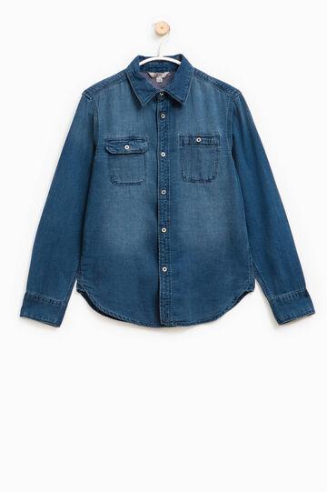 Camicia di jeans con taschini, Denim, hi-res