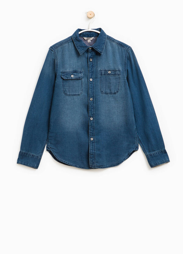 Denim shirt with pockets | OVS