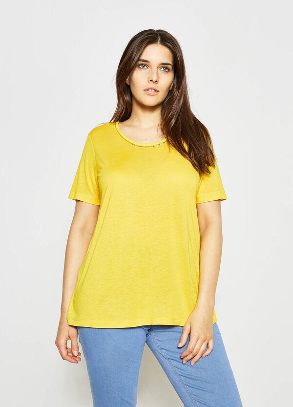Camiseta con escote calado Curvy | OVS