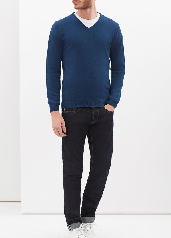 Pullover seta e cashmere scollo V | OVS