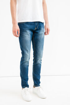 Used-effect loose-fit stretch jeans, Denim, hi-res