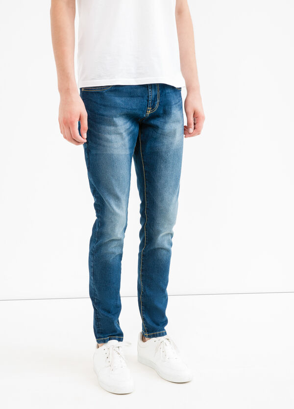 Used-effect loose-fit stretch jeans | OVS