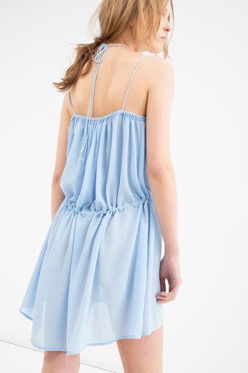 Solid colour short dress