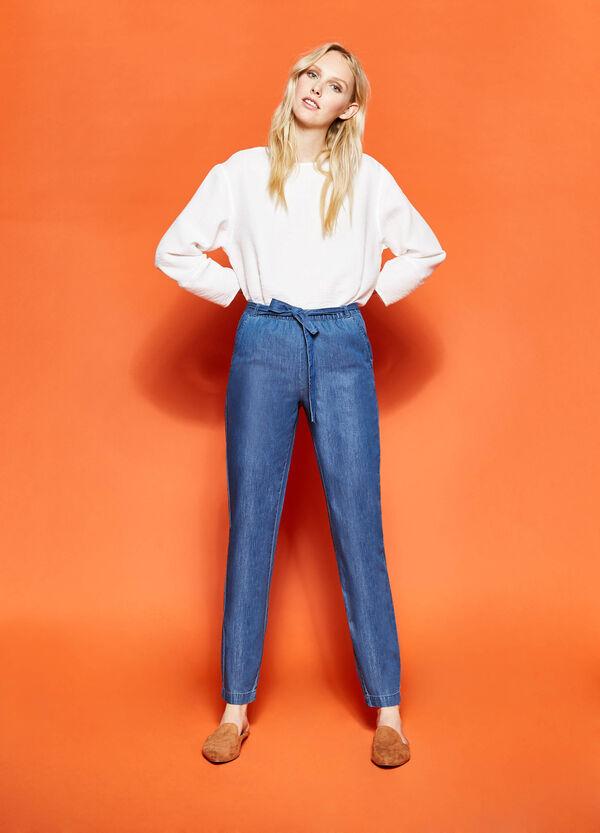 Pantaloni con cintura annodata | OVS