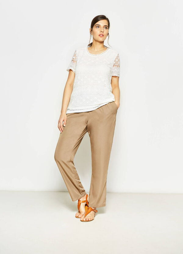 Curvy trousers with flounce | OVS