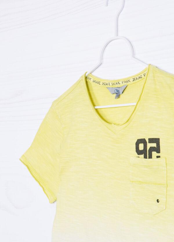 100% cotton degradé T-shirt. | OVS