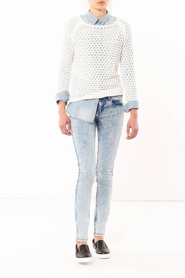 Faded-effect skinny fit jeans, Light Wash, hi-res
