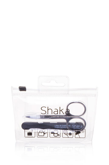Travel kit with scissors and nail files, Transparent, hi-res