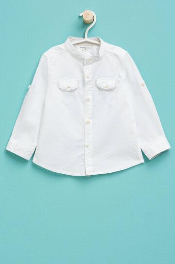 Camicia in puro cotone con taschini