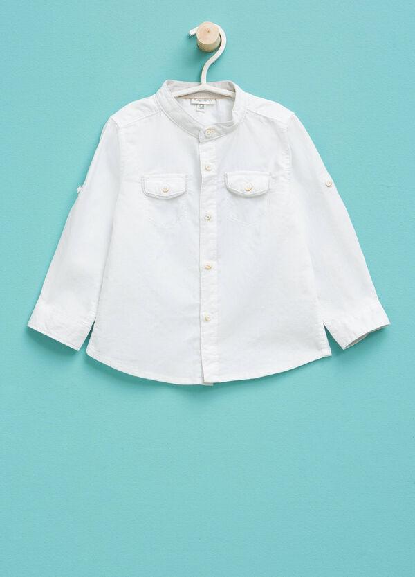 Camisa en algodón 100% con bolsillos | OVS