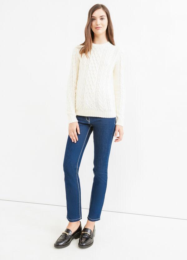 Pullover girocollo tricot tinta unita | OVS