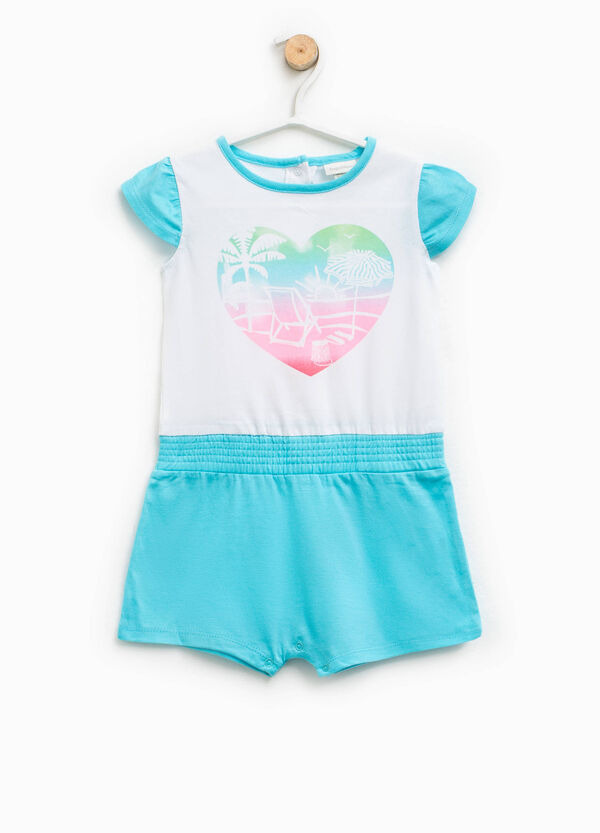 Printed sleepsuit in cotton | OVS