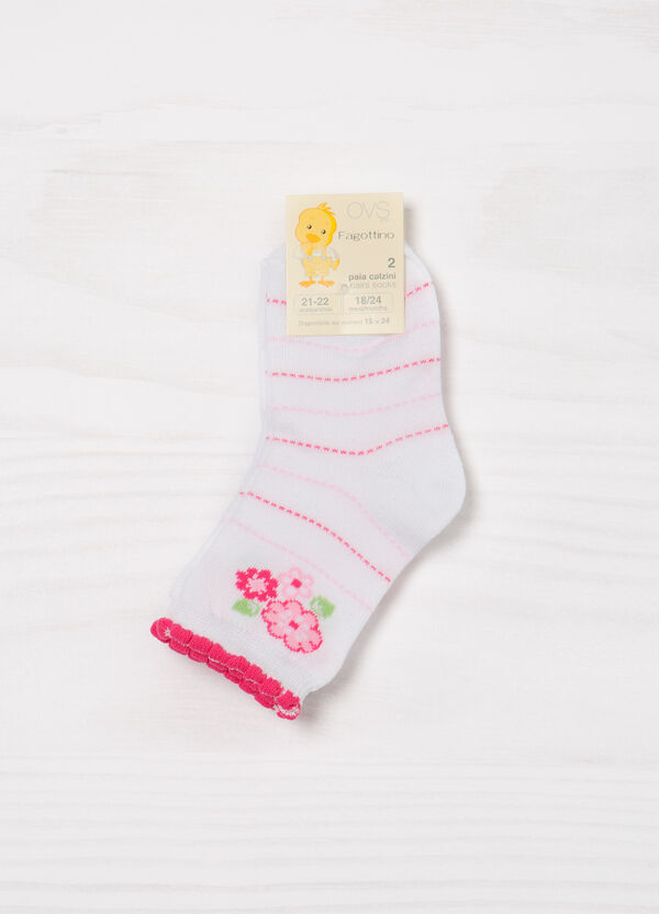 Two-pair pack stretch socks in cotton | OVS