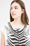 100% cotton T-shirt with animal print, White/Black, hi-res