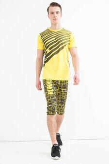 Pantaloni a tre quarti sportivi stretch, Nero grafite, hi-res