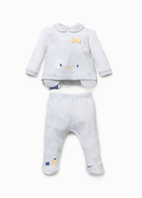 T-shirt and baby leggings set with ears | OVS