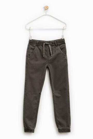 Pantalón de algodón con cintura elástica