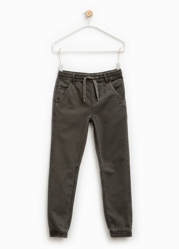 Pantalón de algodón con cintura elástica | OVS