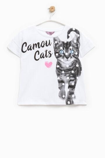 Camiseta en algodón 100% con estampado grande