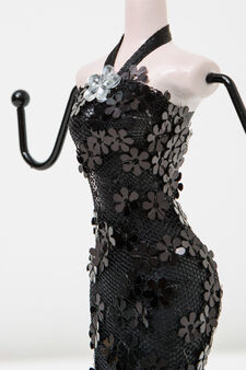 Doll jewellery stand, Black, hi-res