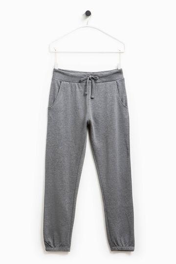 Pantaloni tuta in cotone Smart Basic, Grigio scuro melange, hi-res