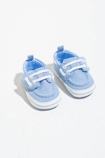 Sneakers con lacci e suola rigata, Blu chiaro, hi-res