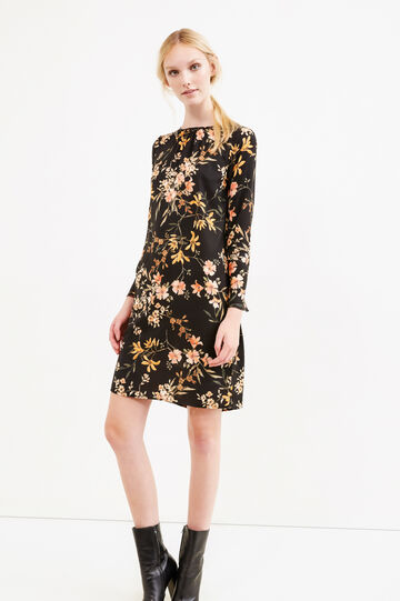 Floral print short tunic dress, Multicolour, hi-res