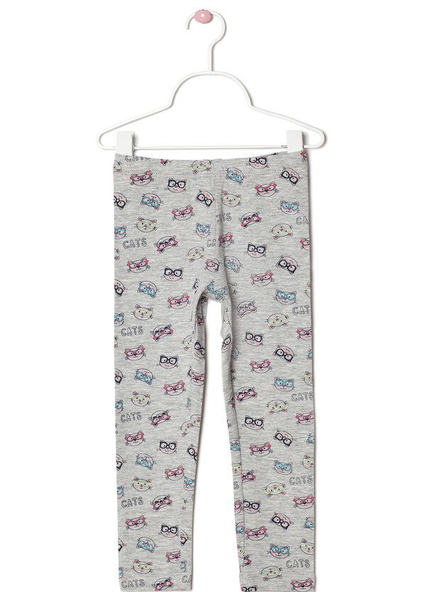 Polka dot pattern stretch leggings | OVS