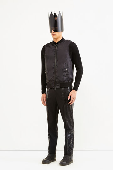 Bomber gilet, Jean Paul Gaultier for OVS, Black, hi-res