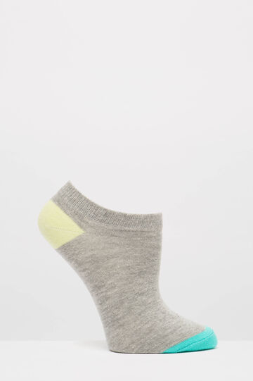 Three-pack stretch cotton socks, Grey, hi-res