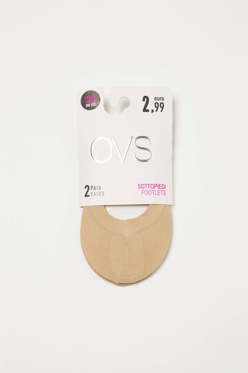 Two-pair pack stretch shoe liners, Natural, hi-res